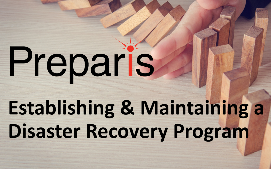Establishing & Maintaining a Disaster Recovery Program Webinar