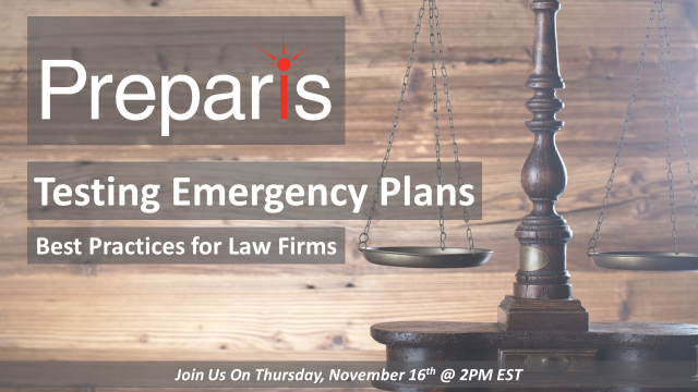 Testing Emergency Plans: Best Practices for Law Firms – Webinar
