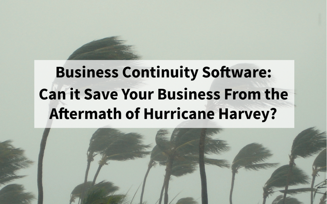 How Business Continuity Software Can Save Your Business After Hurricane Harvey