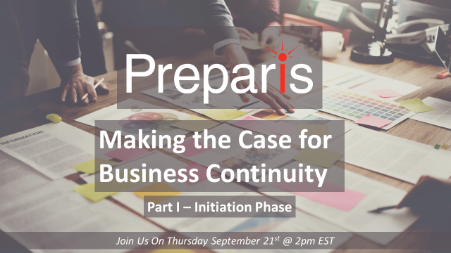 Making the Case for Business Continuity: Part I Initiation Phase