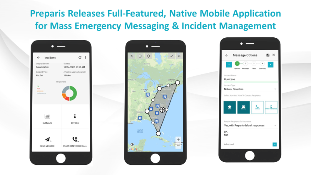 Preparis Releases Full-Featured, Native Mobile Application for Mass Emergency Messaging and Incident Management