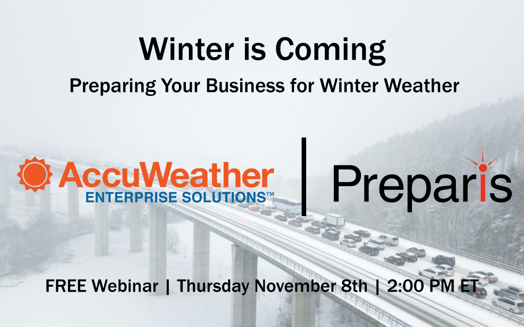 Preparis Partners with AccuWeather Enterprise Solutions for Educational Webinar